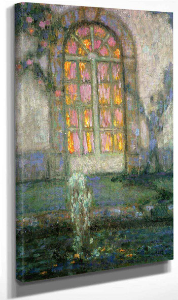 Glass Door On The Garden By Henri Le Sidaner By Henri Le Sidaner