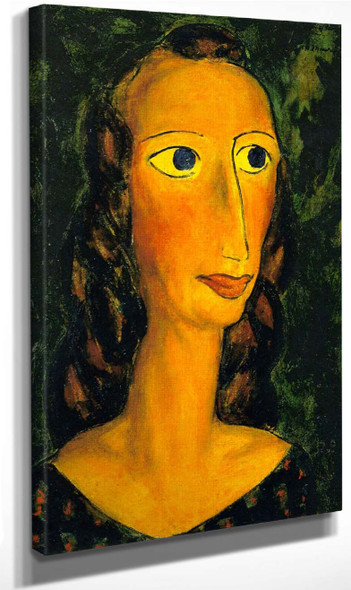 Head Of A Girl1 By Alfred Henry Maurer By Alfred Henry Maurer