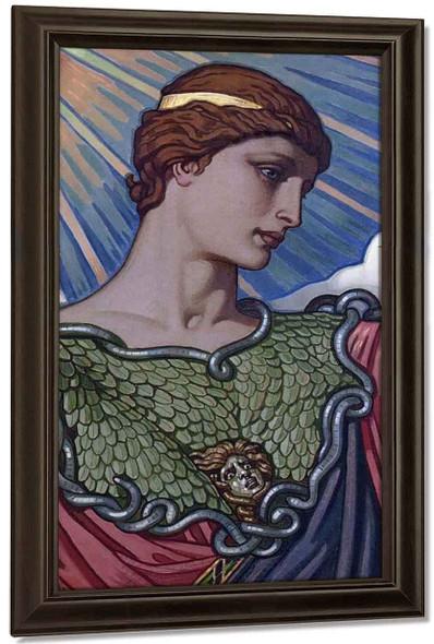 Head Of Minerva By Elihu Vedder