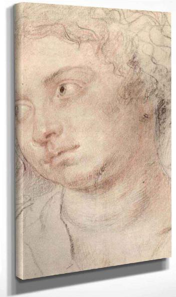 Head Of Woman By Peter Paul Rubens By Peter Paul Rubens
