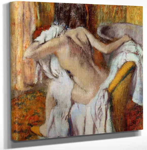 After The Bath Woman Drying Herself5 By Edgar Degas Art Reproduction
