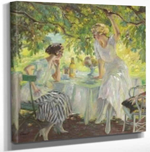 Afternoon Tea By Edward Cucuel By Edward Cucuel Art Reproduction