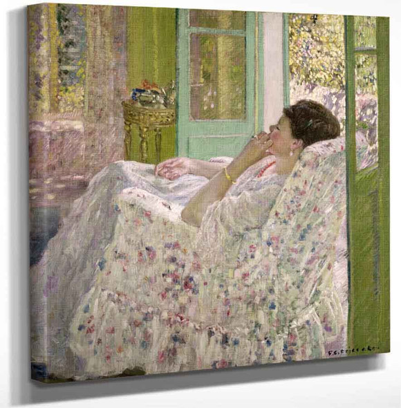 Afternoon Yellow Room By Frederick Carl Frieseke Art Reproduction