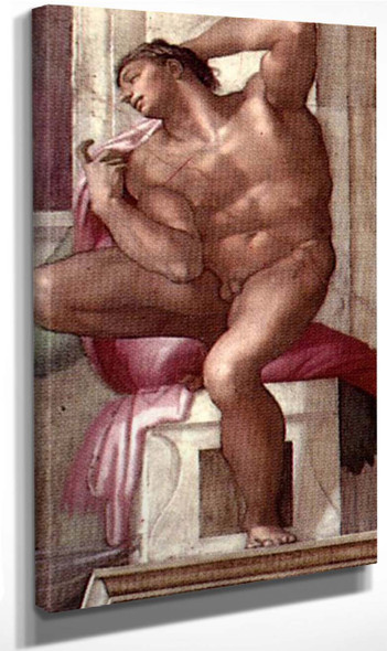 Ignudo19 By Michelangelo Buonarroti By Michelangelo Buonarroti