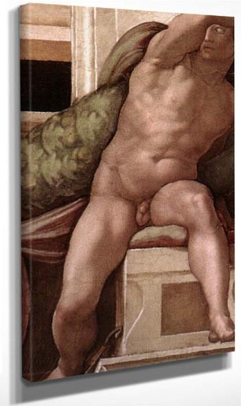 Ignudo By Michelangelo Buonarroti By Michelangelo Buonarroti