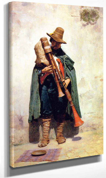 Italian Playing A Doodlesack By Jean Leon Gerome By Jean Leon Gerome