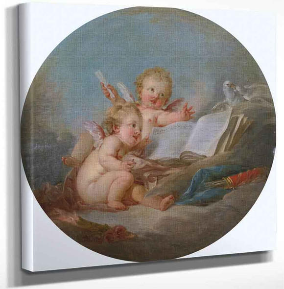 Allegory Of Music By Francois Boucher(French 1703 1770 By Francois Boucher(French 1703 1770) Art Reproduction