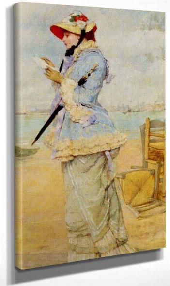 Lady By The Sea By Frederik Henrdik Kaemmerer