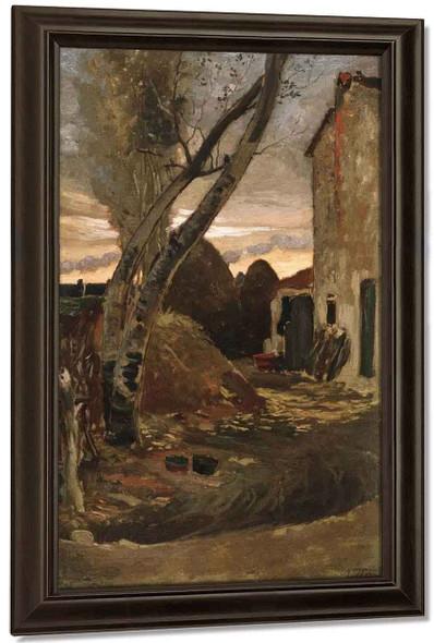 Leaning Trees Near Viareggio By Elihu Vedder