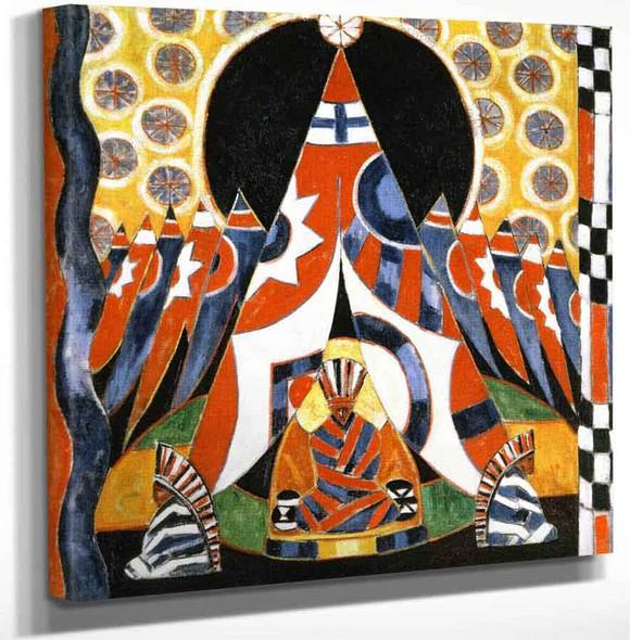 American Indian Symbols By Marsden Hartley Art Reproduction