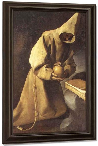 Meditation Of St. Francis By Francisco De Zurbaran