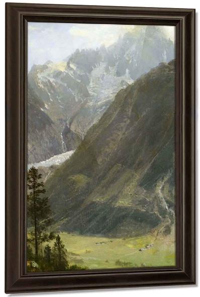 Mountain Landscape 12 By Albert Bierstadt By Albert Bierstadt