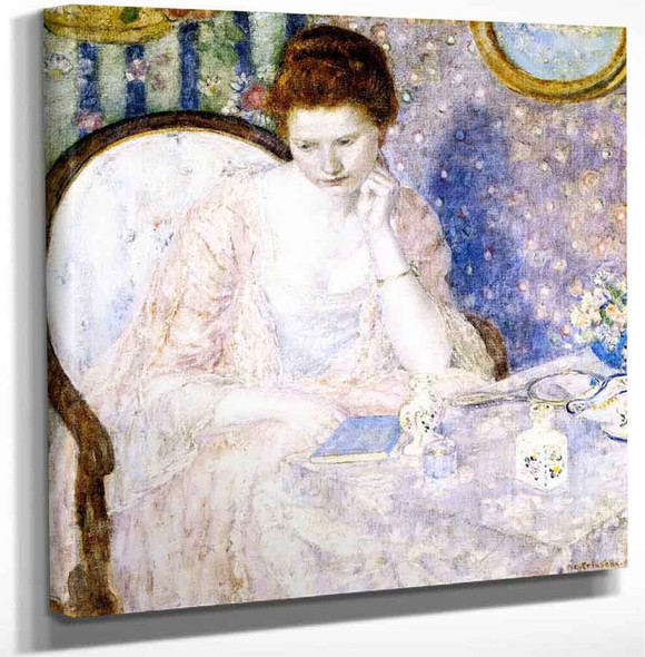 At The Dressing Table By Frederick Carl Frieseke Art Reproduction