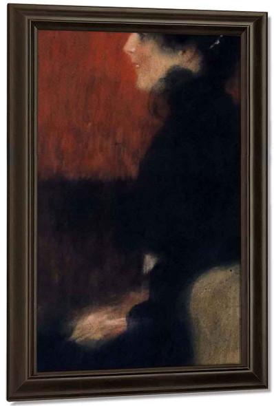 Portrait Of A Lady1 By Gustav Klimt By Gustav Klimt