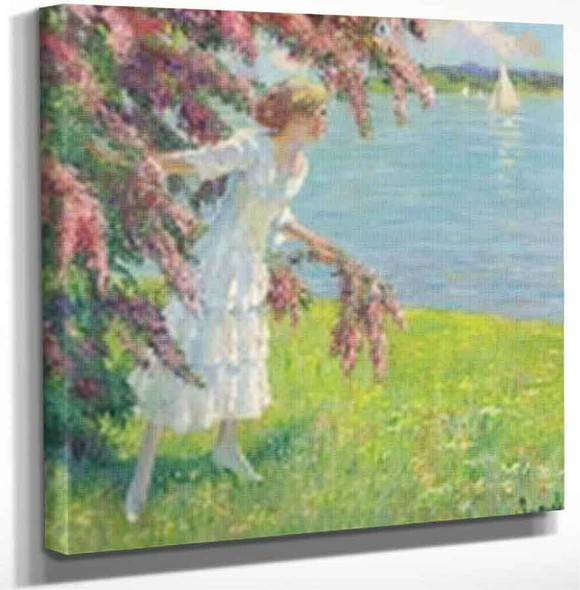 At The Lake1 By Edward Cucuel By Edward Cucuel Art Reproduction