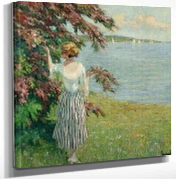 At The Lake By Edward Cucuel By Edward Cucuel Art Reproduction