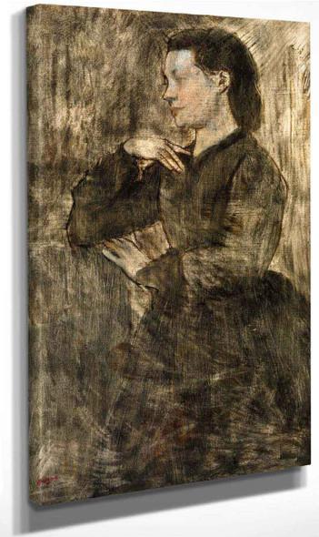 Portrait Of A Woman By Edgar Degas By Edgar Degas
