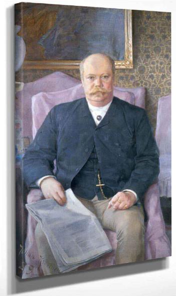 Portrait Of Anton Ridderstad4 By Johan Krouthen By Johan Krouthen