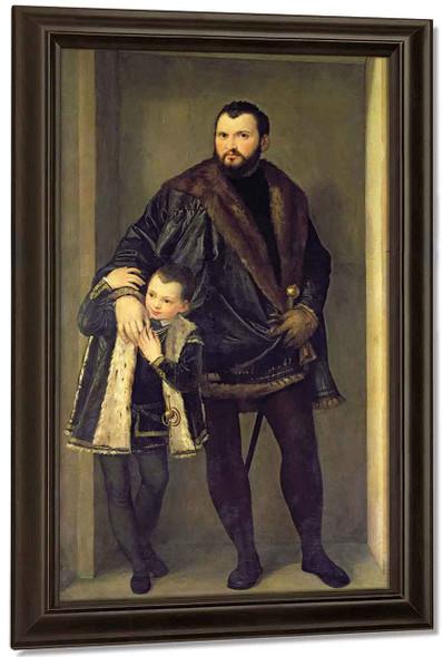 Portrait Of Count Giuseppe Da Porto With His Son Adriano1 By Paolo Veronese