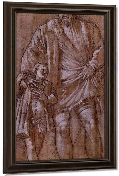 Portrait Of Count Giuseppe Da Porto With His Son Adriano By Paolo Veronese