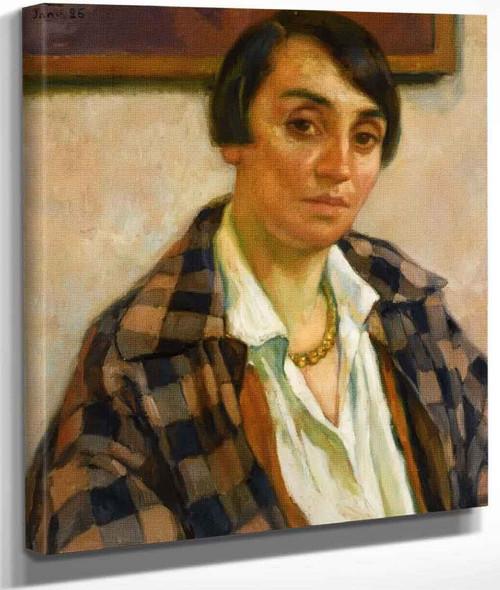 Portrait Of Elizabeth Van Rysselberghe By Theo Van Rysselberghe