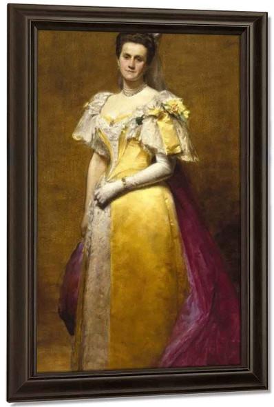 Portrait Of Emily Warren Roebling By Charles Auguste Emile Carolus Duran