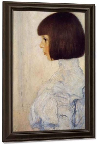 Portrait Of Helene Klimt By Gustav Klimt By Gustav Klimt