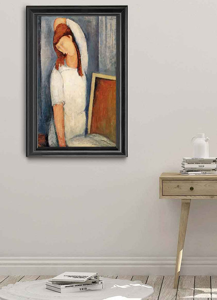 Portrait Of Jeanne Hebuterne, Left Arm Behind Her Head By Amedeo Modigliani Art Reproduction
