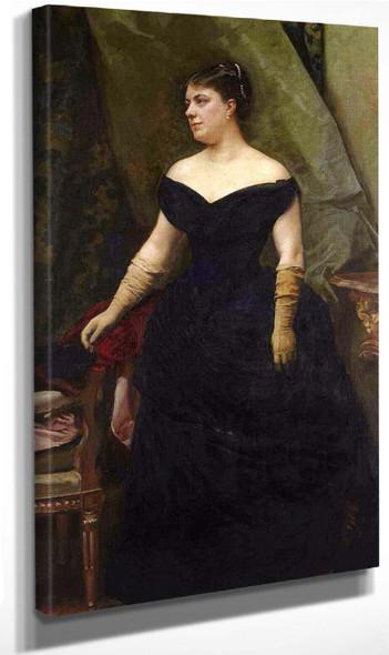 Portrait Of Madame Isaac Hirsch Kann, Nee Koenigswarter By Raimundo De Madrazo Y Garreta Art Reproduction