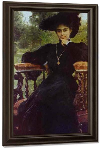 Portrait Of Maria Andreeva. By Ilia Efimovich Repin By Ilia Efimovich Repin