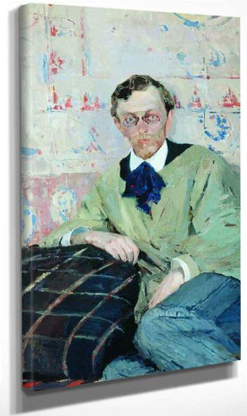 Portrait Of Painter K.K. Pervukhin By Sergei Arsenevich Vinogradov Russian 1869 1938