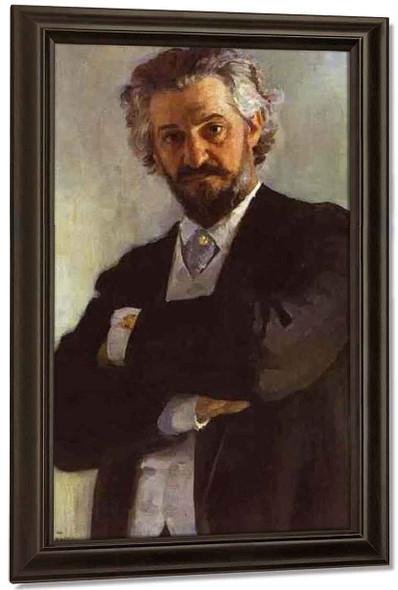 Portrait Of The Chello Player Alexander Verzhbilovich. By Ilia Efimovich Repin By Ilia Efimovich Repin