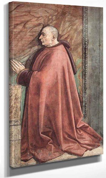 Portrait Of The Donor Francesco Sassetti By Domenico Ghirlandaio