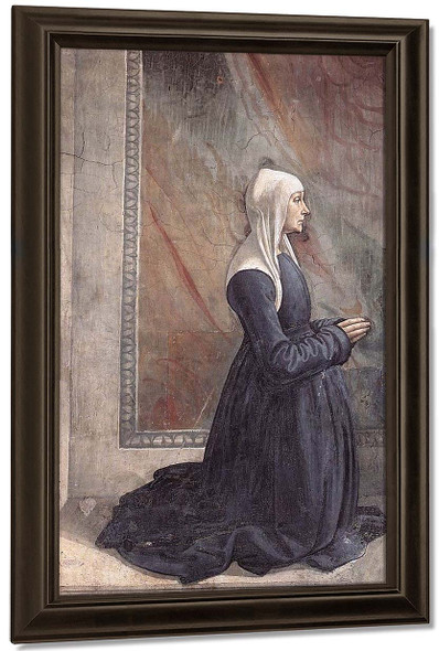 Portrait Of The Donor Nera Corsi Sassetti By Domenico Ghirlandaio