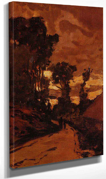 Road By Saint Simeon Farm1 By Claude Oscar Monet