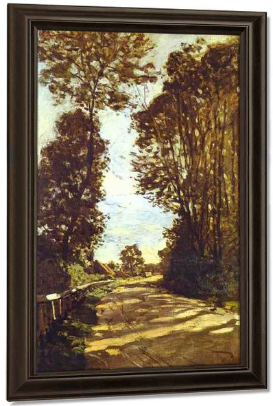 Road To The Saint Simeon Farm By Claude Oscar Monet