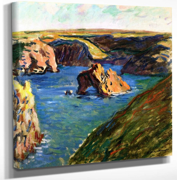 Belle Île By Claude Oscar Monet(French 1840 1926) Art Reproduction