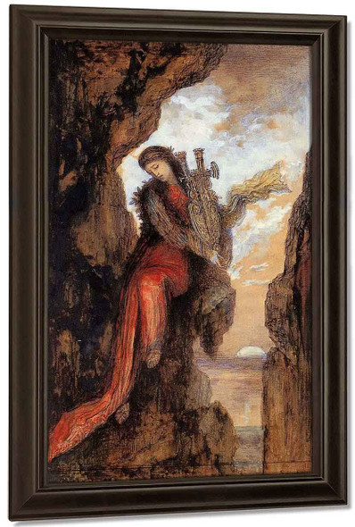 Sappho On The Cliff By Gustave Moreau
