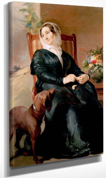 Sarah Sully And Her Dog, Ponto By Thomas Sully Art Reproduction