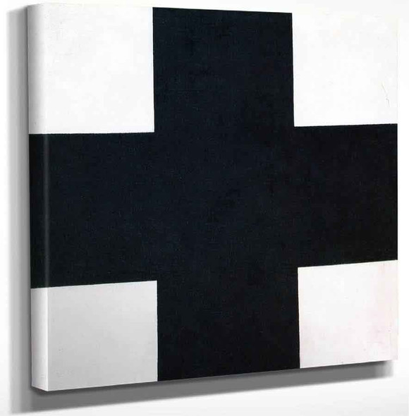 Black Cross By Kasimir Malevich Art Reproduction