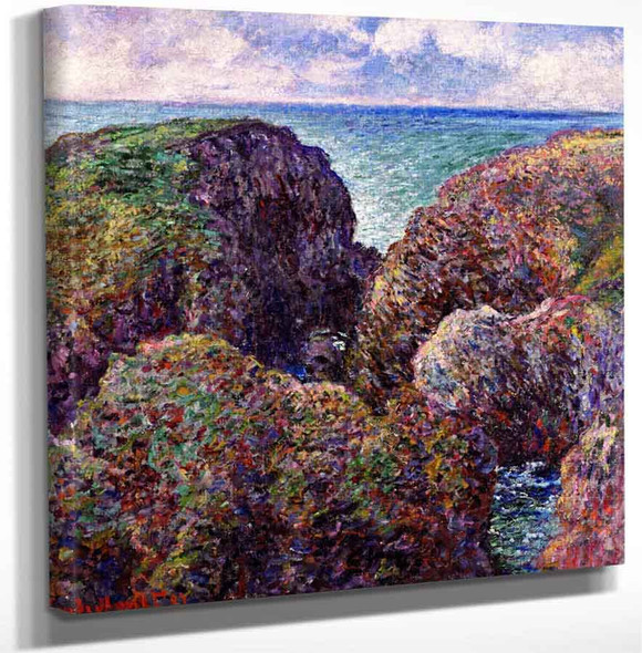 Block Of Rocks At Port Goulphar By Claude Oscar Monet Art Reproduction