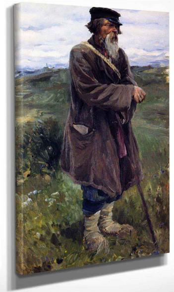 Shepherd And Her Flock By Sergei Arsenevich Vinogradov Russian 1869 1938