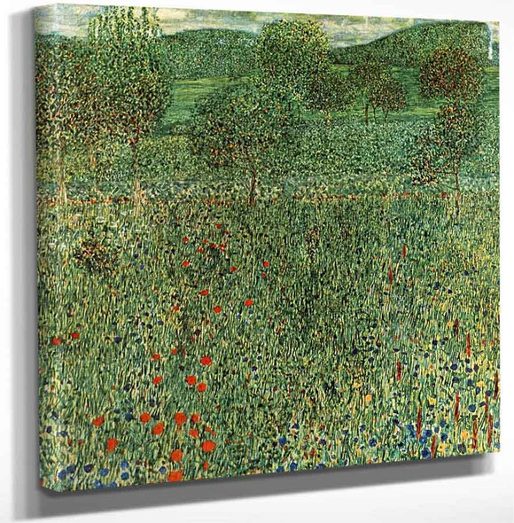Blooming Field By Gustav Klimt Art Reproduction