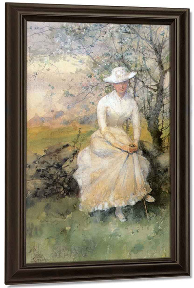 Spring By Frederick Childe Hassam By Frederick Childe Hassam