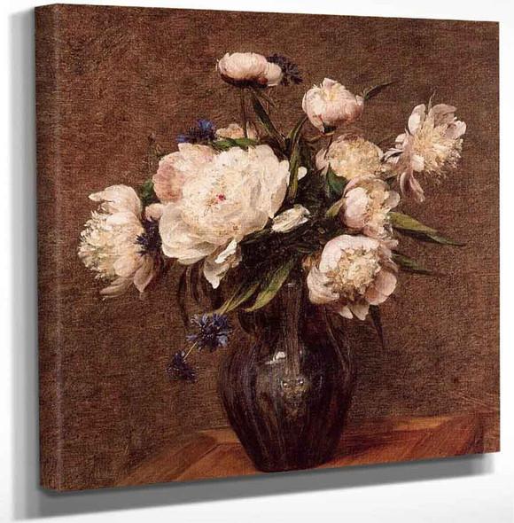 Bouquet Of Peonies By Henri Fantin Latour Art Reproduction