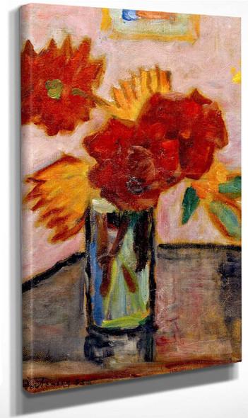 Still Life With Flowers By Alexei Jawlensky By Alexei Jawlensky