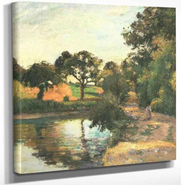 Bridge At Montfoucault By Camille Pissarro Art Reproduction
