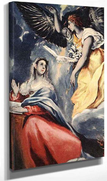 The Annunciation1 By El Greco By El Greco