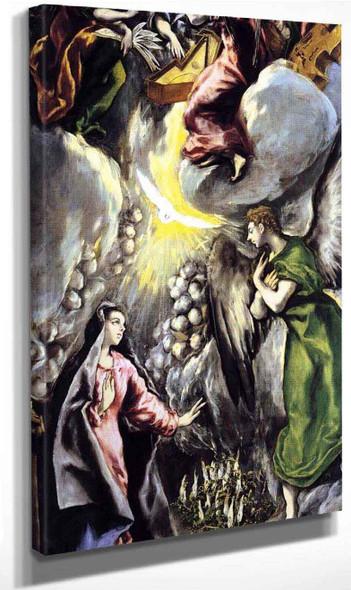 The Annunciation5 By El Greco By El Greco
