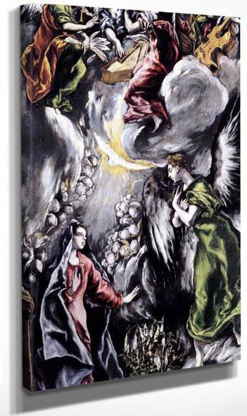 The Annunciation6 By El Greco By El Greco